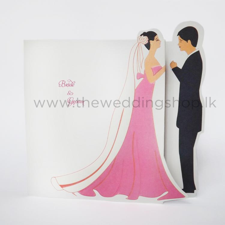 Wedding Invitations Sri Lanka: Bride And Groom Wedding Invitation
